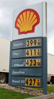 Diesel prices are back up at 2008 levels, which is when this photo was taken.