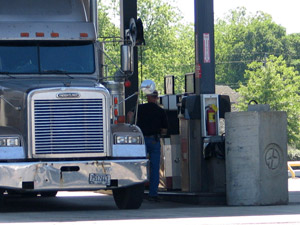 Over the last six weeks, diesel prices have gained 18.8 cents. (Photo by Deborah Lockridge)