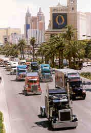 Last year's Show & Shine participants parade down the Vegas strip.