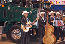 Mariachi bands provided entertainment during Truck Show Latino in Pomona.