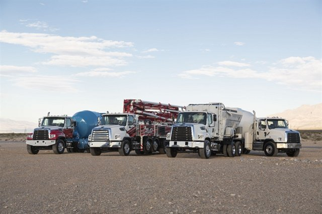 The midrange-size engine is an alternative to the Cummins L9 and will be offered in the 108SD, such as the one at the show, as well as the 106SD and 114SD. Photo: Freightliner