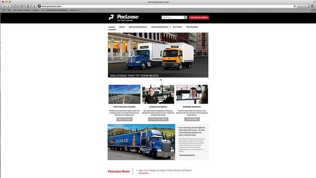 The new PacLease website.