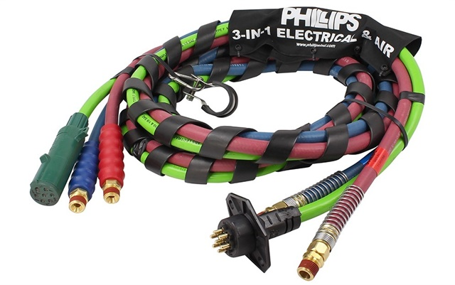 The Phillips Industries 3-in-1 Electrical and Air Assemblies were one of the components that were made standard equipment on International Class 8 trucks. Photo: Phillips Industries