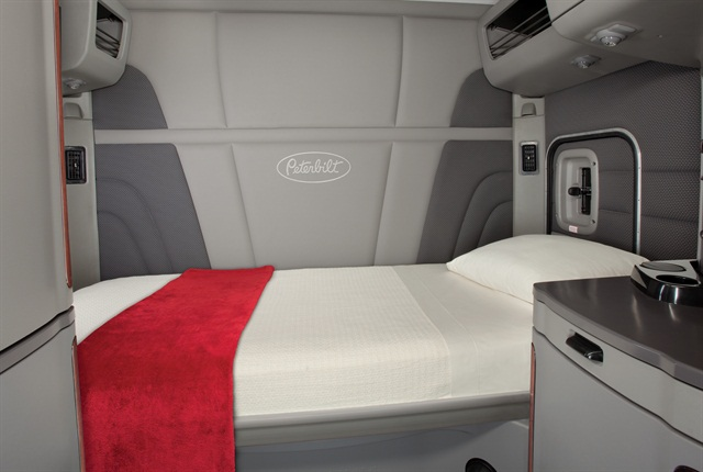 Should a driver have to spend a full eight hours at a time in the sleeper? Photo: Peterbilt