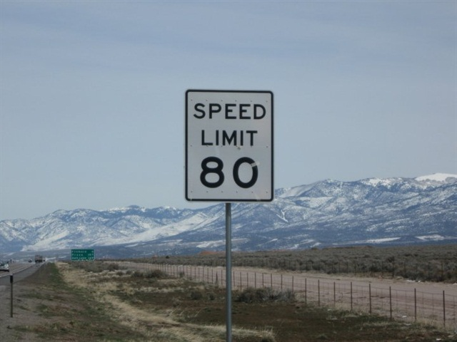 80-mph speed limit sign in Utah. Credit: Wikimedia Commons