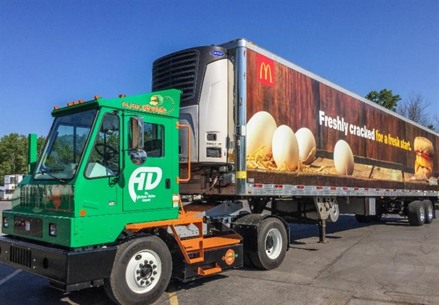Drivers like the yard truck's quiet operation. Photo: Orange EV