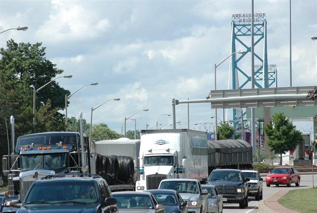 The Ambassador Bridge could open to trucks hauling some hazardous materials.