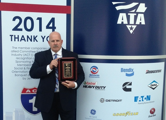 Carl Shultz, the 2014 National Truck Driver of the Year. Photo by Shane Jackson, ACS Advertising.