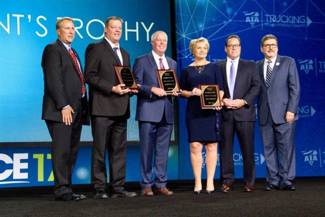 President's Award winners on stage at ATA MC&E. Photo: Evan Lockridge