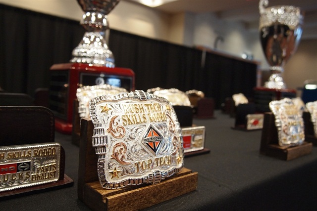 Belt buckles were given out to the winners of each division and trophies were awarded to the grand champions:Photo: Steven Martinez.