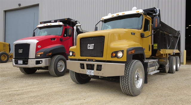 "Cat's CT681, right, features more ""industrial"" styling than the current CT660. Photo by Tom Berg"
