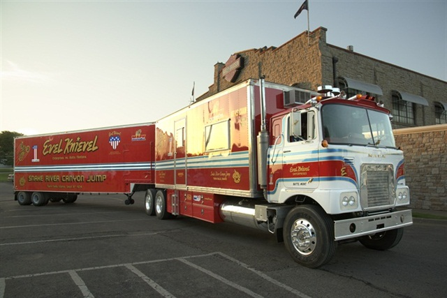 Evel Knievel's Mack FS786LST show truck is celebrating the holidays at the Mack Trucks Historical Museum in Allentown, Penn. Photo: Mack Trucks