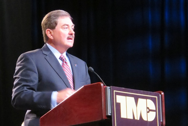 ATA Chairman Phil Byrd speaks at TMC Tuesday.