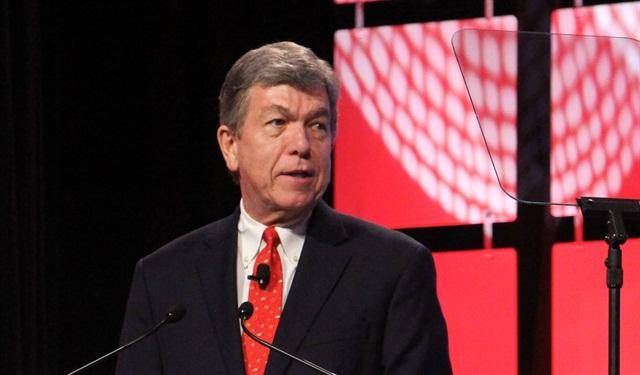 Roy Blunt, R-Mo., talks regulations at ATA MC&E. Photo by Evan Lockridge.