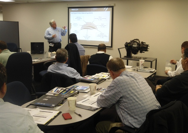 A brake training class in 2014.Photo: TMD Friction.
