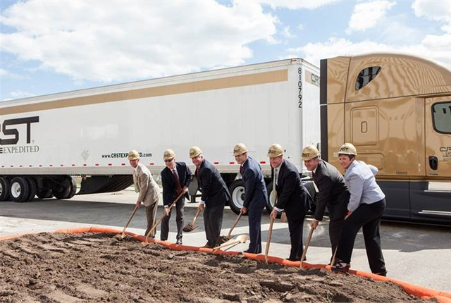 CRST breaks ground on new headquarters. Photo via Amperage PR