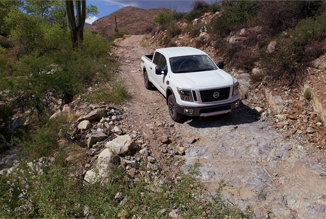 Ride quality on- and off-road is better than ¾-ton pickups because the XD's spring and shock rates can be softer. Much development was done at Nissan's Arizona proving grounds.