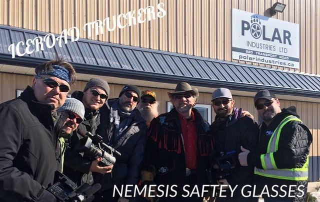 Todd Dewey (right), Ice Road truckers TV show personality, partnered with Kimberly-Clark to promote the value of safety glasses and proper use of eye wear. (Source: Todd Dewey Facebook)
