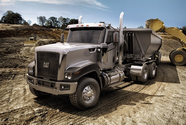 With a BBC of 124 inches, CT680 is the longest of the three Cat Truck models. It's available as a truck or tractor. Photo: Caterpillar