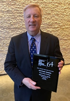 HDT Executive Editor David Cullen was on hand to receive the magazine's Neal Award for its Alt-Fuels Update 2017 package of related articles.