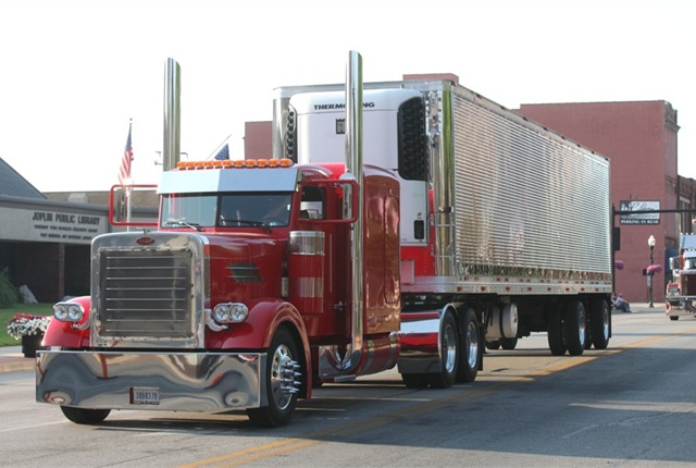 Contestants' trucks are working rigs carefully maintained by their owners. This is one of the entries from the 2012 event in Joplin.