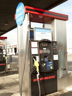 TravelCenters of America is one of the truckstop chains where DEF is available at many pumps.