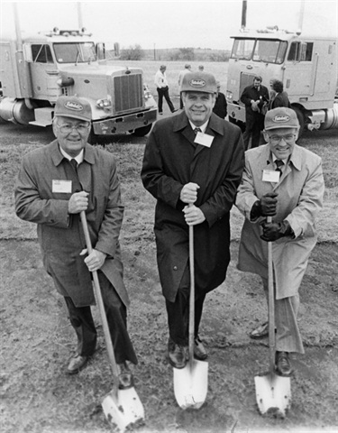 The Denton facility's groundbreaking ceremony in 1978. Photo: Peterbilt