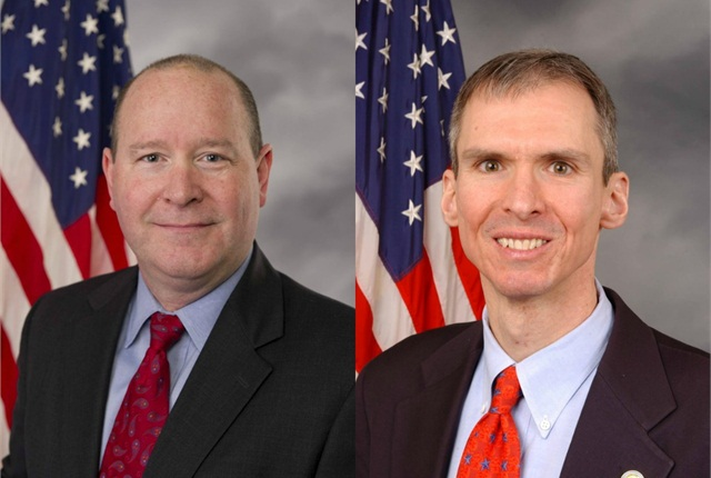 Congressmen Larry Bucshon (left) and Daniel Lipinski (right).