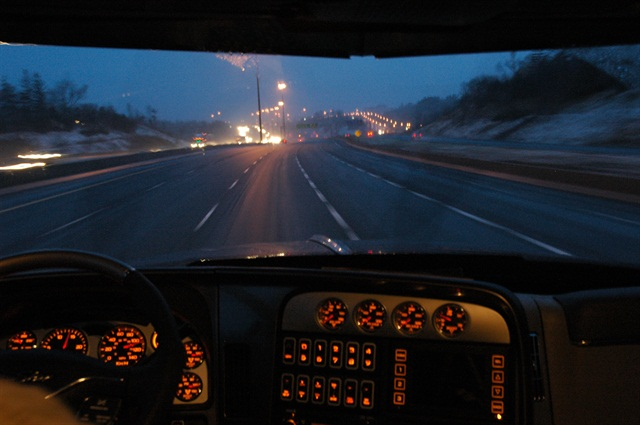 The suspension would start after the bill is passed and FMCSA posts public notice, and last until September 30, 2015, or when FMCSA finishes the study. Photo by Jim Park