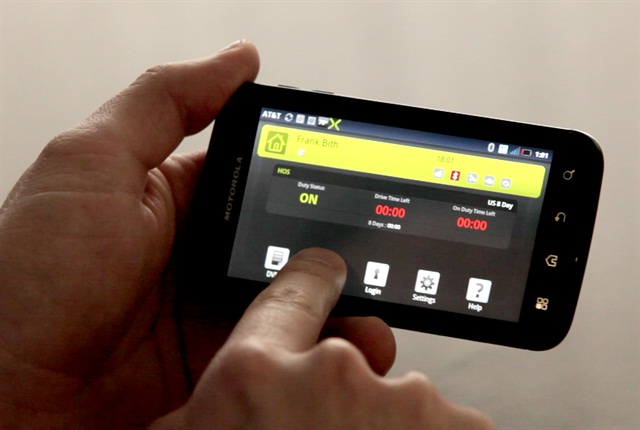 XRS allows users to operate the system on a wide variety of mobile devices, such as this Motorola smartphone.