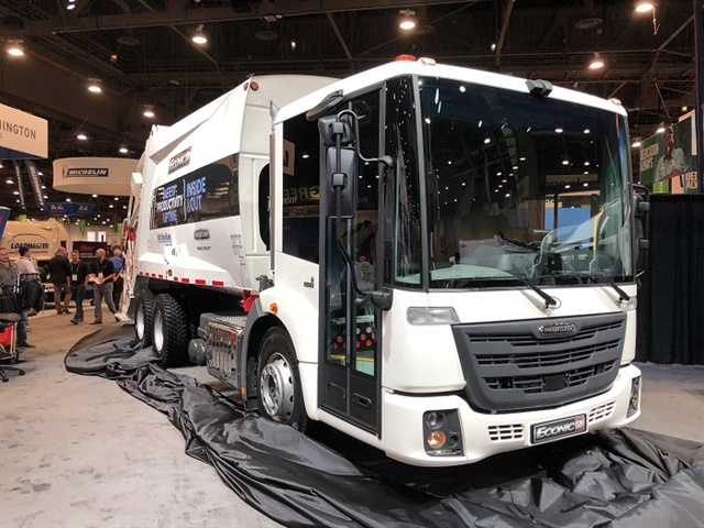 Freightliner has launched a dedicated refuse truck called the EconicSD in North America, based on a European design. Photo: Jack Roberts