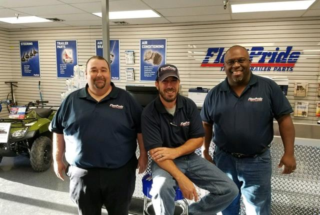 FleetPride employees celebrate the opening of the company's first New Orleans branch.