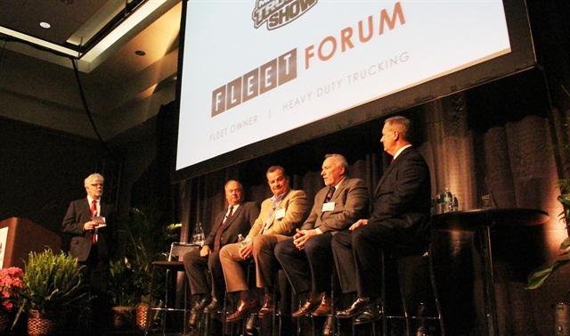 HDT's Truck Fleet Innovators panel at the MATS Fleet Forum. Photo: Evan Lockridge
