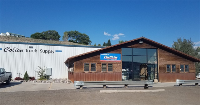 The former Colton Truck Supply in Montrose, Colorado, during its transition to a FleetPride branch. Photo courtesy of FleetPride.