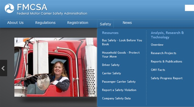 "As of March 7, CSA ""raw data"" is once again publicly visible on FMCSA website, according to the agency. Image: FMCSA"