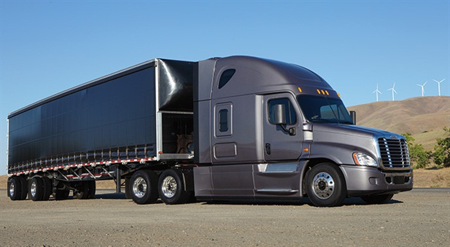 Model year 2017 Cascadia Evolution trucks spec'd with DT12 automated transmissions will see 7.15 mpg, Freightliner says.