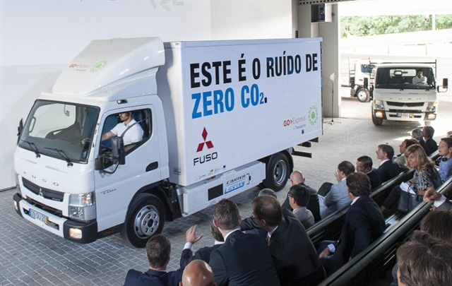 Fuso Canter E-Cell customer trials were completed in Portugal. Photo: Daimler