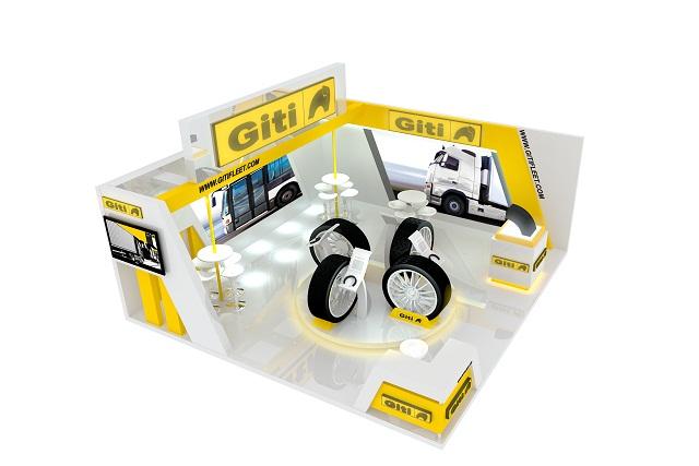 The Giti Tire display forthe Malaysia International Bus, Truck and Components Expo. Photo via Giti Tire
