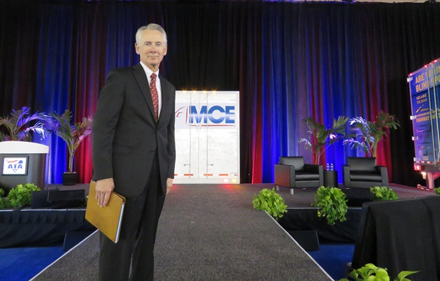 Gov. Bill Graves, president of ATA, at the trucking lobby's 2015 annual meeting and expo in Philadelphia. Photo: David Cullen
