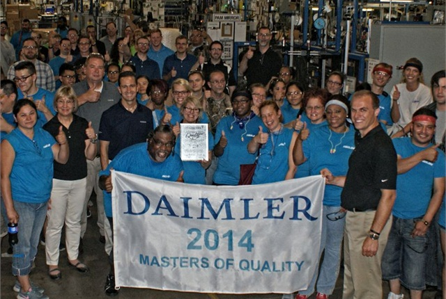 Hadley employees celebrate the Masters of Quality Supplier Award. Photo: Hadley
