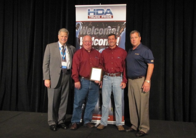 Photo left to right:Mark Willis – HDA Truck Pride, Bobby Willingham & Alan Davenport – owners of Davenport and Willingham, Edward Neeley – Truck Supply Company of South Carolina – sponsoring member.Photo: HDA Truck Pride
