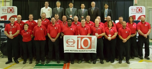 Hino Motors Manufacturing in Williamstown, W. Va., celebrated 10 years of manufacturing. (Photo: Hino)