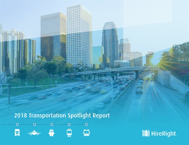 Finding and retaining qualified drivers remains a top concern for trucking companies in 2018. Image: HireRight