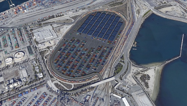 A 5.5 million square foot container staging facility at the Port of Los Angeles would help improve the flow of cargo to and from the facility. Photo: Harbor Performance Enhancement Center