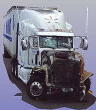 NTSB 3D scan of the Walmart truck involved in the crash.