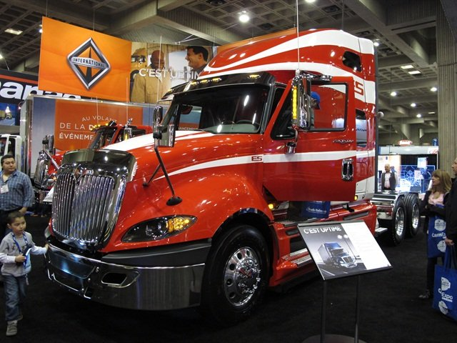 Navistar's ProStar ES 110, unvieled at Expocam in Montreal, April 17. Photo by Jim Park