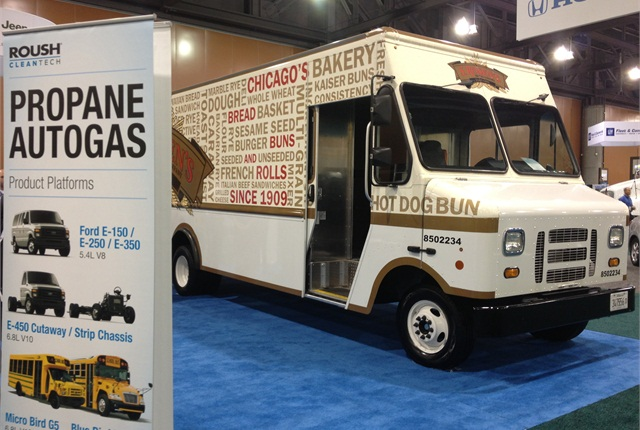 Check out alternative fuel vehicles on the show floor, like this one from last year's Green Fleet Conference. Photo: Deborah Lockridge