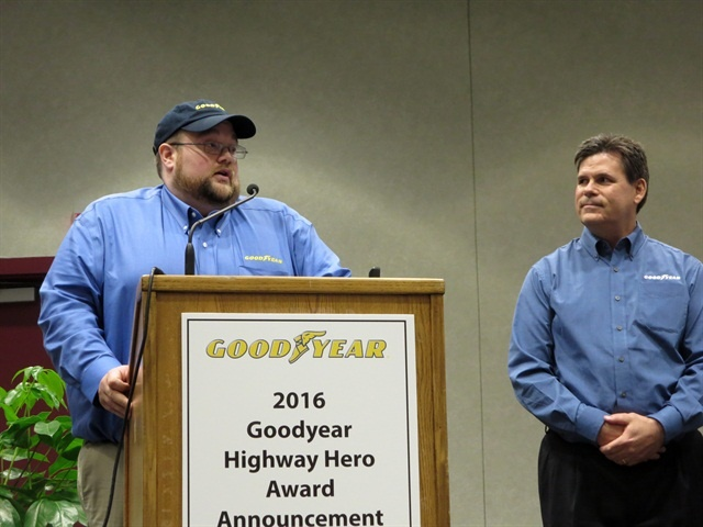 Last year's Goodyear Highway Hero Award winner, Julian Kaczor. Photo: Deborah Lockridge