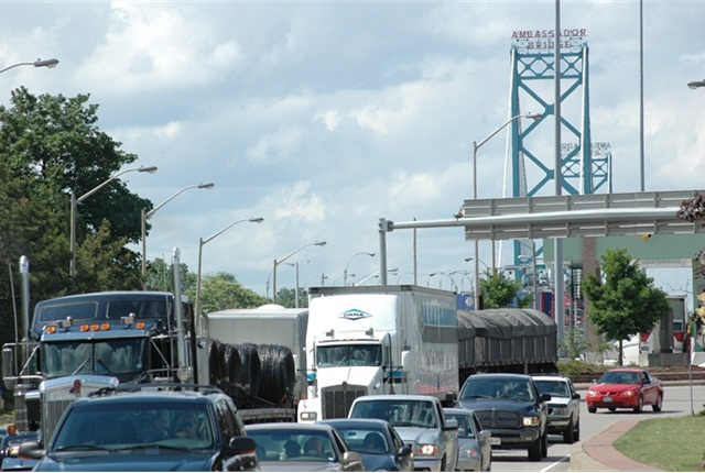 Citizens living on the Canadian side of the Ambassador Bridge have sued the American owners of the bridge for $10 million.