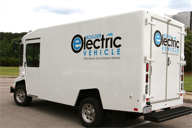 One of Boulder Electric Vehicles' models on display in May 2013 during the Southeastern High-Efficiency Truck Users Forum. Photo: Evan Lockridge